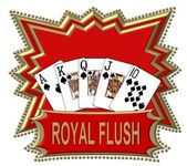 Royal flush logotipo rojo — Foto de Stock