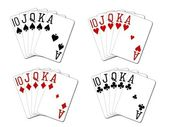 Isolated Royal Flush Set — Stock Photo