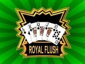 Royal Flush Background green — Stock Photo