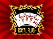 Royal Flush Background red — Foto Stock
