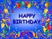 Gelukkige verjaardag baclground blauw — Stockfoto