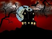 Scary halloween-haus — Stockfoto