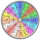Zodiac Disc rainbow colored — Stock Photo