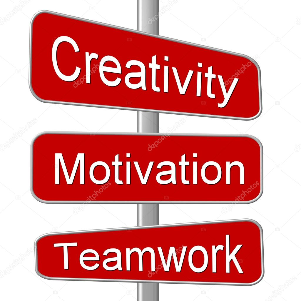 Business Motivation Sign Creativity — Stock Photo #1750000