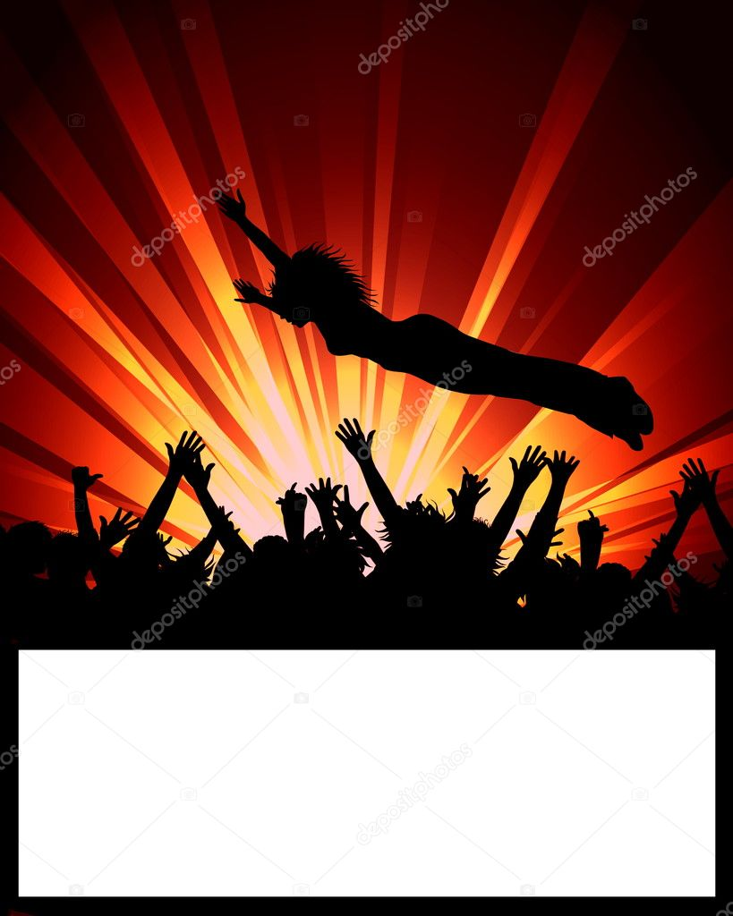 Dance Party Placard — Stock Photo #1750229