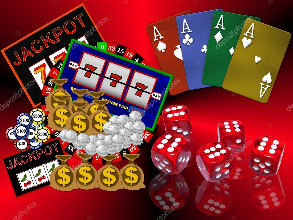 Background with casino symbols — Lizenzfreies Foto #1750332