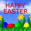 Stock Photo: Happy Easter Background