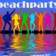 Beach party background — Stock fotografie