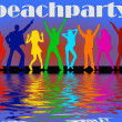 Beach party background — Stockfoto
