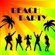 Beach party background — Stockfoto #1763575