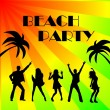 Beach party background - Stock Photo