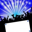 Party invitation placard - Stock Photo