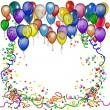 Birthday inviation background - Stock Photo