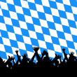Bavarian style party background — Stock Photo