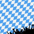 Bavarian style party background - Stock Photo
