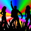 Stock Photo: Abstract background with dancers