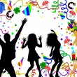 Happy new year background with dancers — Foto Stock