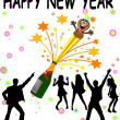 New year background with Champagne - Stock Photo