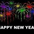 Happy new year background with fireworks - Stock Photo