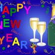 Happy new year background - Stock Photo