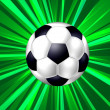 Abstract background with soccer ball — Stock Photo