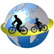 Cycling around the world — Stock Photo