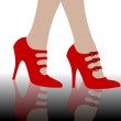 High heels background — Stock Photo