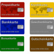 Set of Credit Debit and Customer Cards — Stock Photo