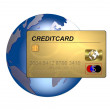 Stock Photo: Credit Card on Globe