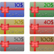 Set of gift cards Dollar — Stock Photo