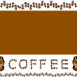 Coffee themed background — Stockfoto