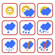 Weather symbols — Stock Photo