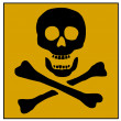 Stock Photo: Skull and Bones Poison sign