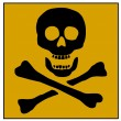 Skull and Bones Poison sign — Stock Photo #1765374