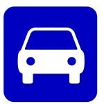 Blue sign car — Stock Photo