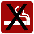 Non Smoking sign — Stock Photo