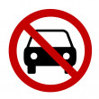 Stock Photo: Prohibition sign Car