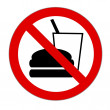 Prohibition sign Junkfood — Stock Photo