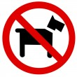 Stock Photo: Prohibition sign Dog