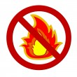 Prohibition sign Fire — Stock Photo