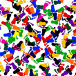 Colored footprints — Stock Photo