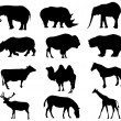 Wild animals silhouettes — Stock Photo #1768112