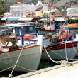 Fishing Boats in harbour — Stock Photo