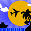 Vacation themed background — Stock Photo