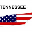 USA State Map Tennessee — Stock Photo