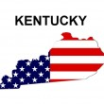 USA State Map Kentucky — Stock Photo