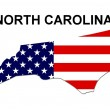 USA State Map North Carolina — ストック写真