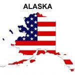 USA State Map Alaska — Stock Photo