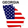 USA State Map Georgia — Stock Photo #1768565