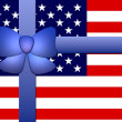 Stars & Stripes Banner with Ribbon - Stock Photo